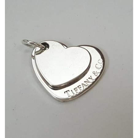 Tiffany-Co-925-Sterling-Silver-Double-Heart-Charm-Monogram-Pendant-173609493451
